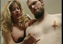 Rough gangbang with curly blonde black orgy
